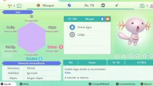 #100 WOOPER ULTRA SHINY 6IVS COMPETITIVO
