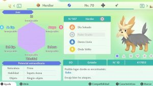 #114 HERDIER ULTRA SHINY 6IVS COMPETITIVO