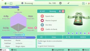 #119 BRONZONG ULTRA SHINY 6IVS COMPETITIVO