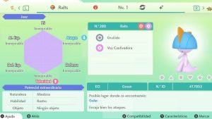 #120 RALTS ULTRA SHINY 6IVS COMPETITIVO
