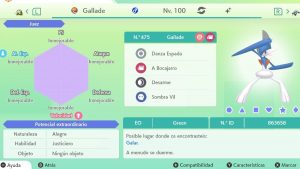 #123 GALLADE ULTRA SHINY 6IVS COMPETITIVO