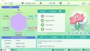 #126 GOSSIFLEUR ULTRA SHINY 6IVS COMPETITIVO