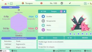 #128 TOXAPEX ULTRA SHINY 6IVS COMPETITIVO