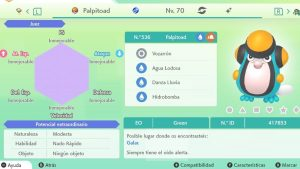 #133 PALPITOAD ULTRA SHINY 6IVS COMPETITIVO