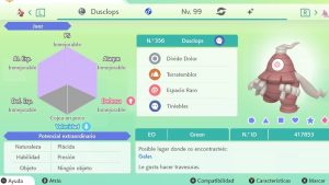 #136 DUSCLOPS ULTRA SHINY 6IVS COMPETITIVO