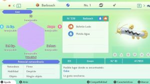 #137 BARBOACH ULTRA SHINY 6IVS COMPETITIVO
