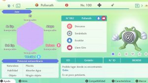 #144 POLIWRATH ULTRA SHINY 6IVS COMPETITIVO