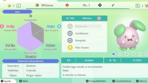 #148 WHISMUR ULTRA SHINY 6IVS COMPETITIVO