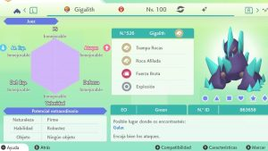 #170 GIGALITH ULTRA SHINY 6IVS COMPETITIVO
