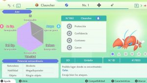 #196 CLAUNCHER ULTRA SHINY 6IVS COMPETITIVO