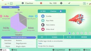 #197 CLAWITZER ULTRA SHINY 6IVS COMPETITIVO