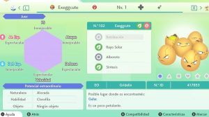 #205 EXEGGCUTE ULTRA SHINY 6IVS COMPETITIVO