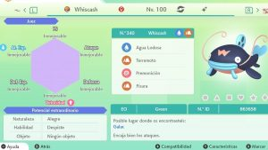 #229 WHISCASH ULTRA SHINY 6IVS COMPETITIVO