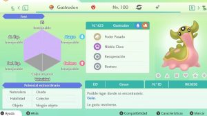 #231 GASTRODON OESTE ULTRA SHINY 6IVS COMPETITIVO