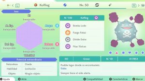 #250 KOFFING ULTRA SHINY 6IVS COMPETITIVO