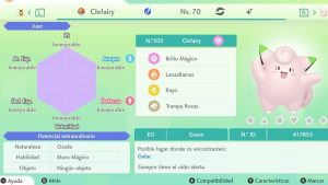 #255 CLEFAIRY ULTRA SHINY 6IVS COMPETITIVO