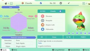 #42 CHEWTLE ULTRA SHINY 6IVS COMPETITIVO