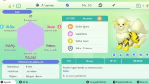 #71 ARCANINE ULTRA SHINY 6IVS COMPETITIVO