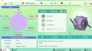 #75 WHIRLIPEDE ULTRA SHINY 6IVS COMPETITIVO
