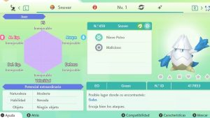 #96 SNOVER ULTRA SHINY 6IVS COMPETITIVO
