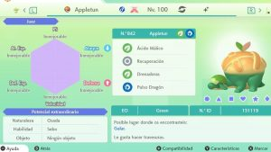 APPLETUN GIGAMAX ULTRA SHINY 6IVS COMPETITIVO