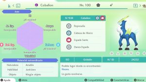 COBALION ULTRA SHINY 6 IVS COMPETITIVO