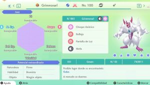 GRIMMSNARL GIGAMAX ULTRA SHINY 6IVS COMPETITIVO
