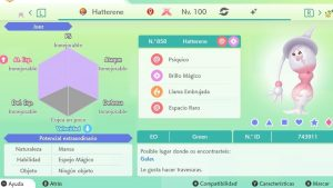HATTERENE GIGAMAX ULTRA SHINY 6IVS COMPETITIVO