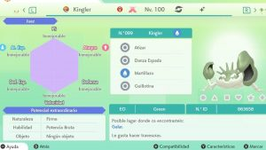 KINGLER GIGAMAX ULTRA SHINY 6IVS COMPETITIVO