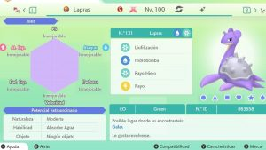 LAPRAS GIGAMAX ULTRA SHINY 6IVS COMPETITIVO