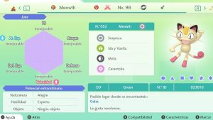 MEOWTH GIGAMAX ULTRA SHINY 6IVS COMPETITIVO