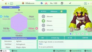 RILLABOOM GIGAMAX ULTRA SHINY 6IVS COMPETITIVO