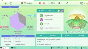 VENUSAUR GIGAMAX ULTRA SHINY 6IVS COMPETITIVO