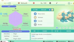 RELICANTH ULTRA SHINY 6 IVS COMPETITIVO