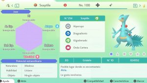 SCEPTILE ULTRA SHINY 6 IVS COMPETITIVO