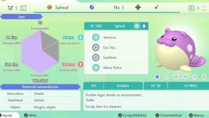 SPHEAL ULTRA SHINY 6 IVS COMPETITIVO