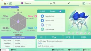 SUICUNE ULTRA SHINY 6 IVS COMPETITIVO