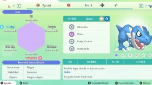 TYRUNT ULTRA SHINY 6 IVS COMPETITIVO