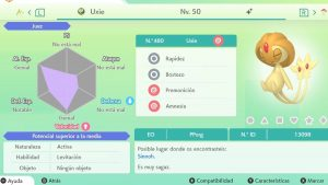 UXIE ULTRA SHINY 6 IVS COMPETITIVO